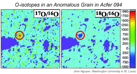 O-isotopes of grain in Acfer 094