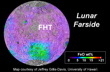 Distribution of FeO and the FHT on the lunar farside.