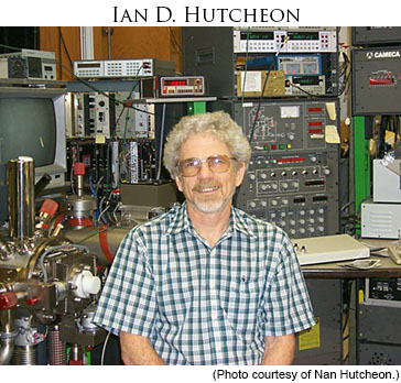 Dr. Ian D. Hutcheon in the lab. Photo courtesy of Nan Hutcheon.