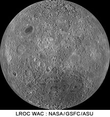 LROC WAC mosaic of the Moon centered at 180 longitude, showing farside highlands.