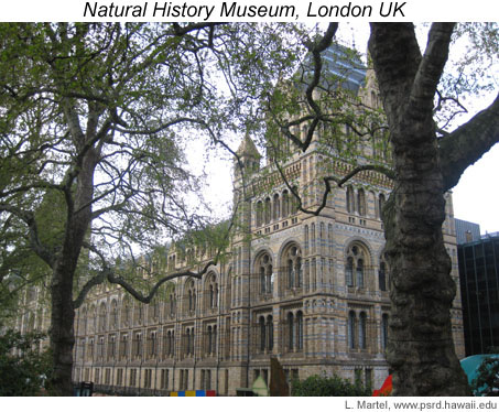 Photo of the Natural History Museum building in London. (April, 2009)