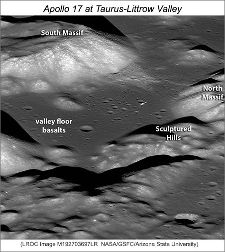 LROC image of Taurus-Littrow Valley