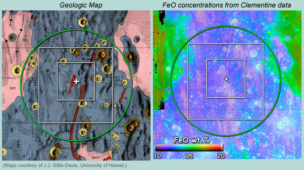 Apollo 14 landing site FeO concentrations