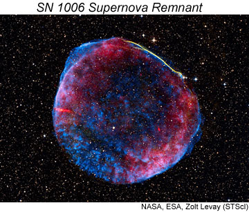 Supernova remnant SN1006. Click for more information.